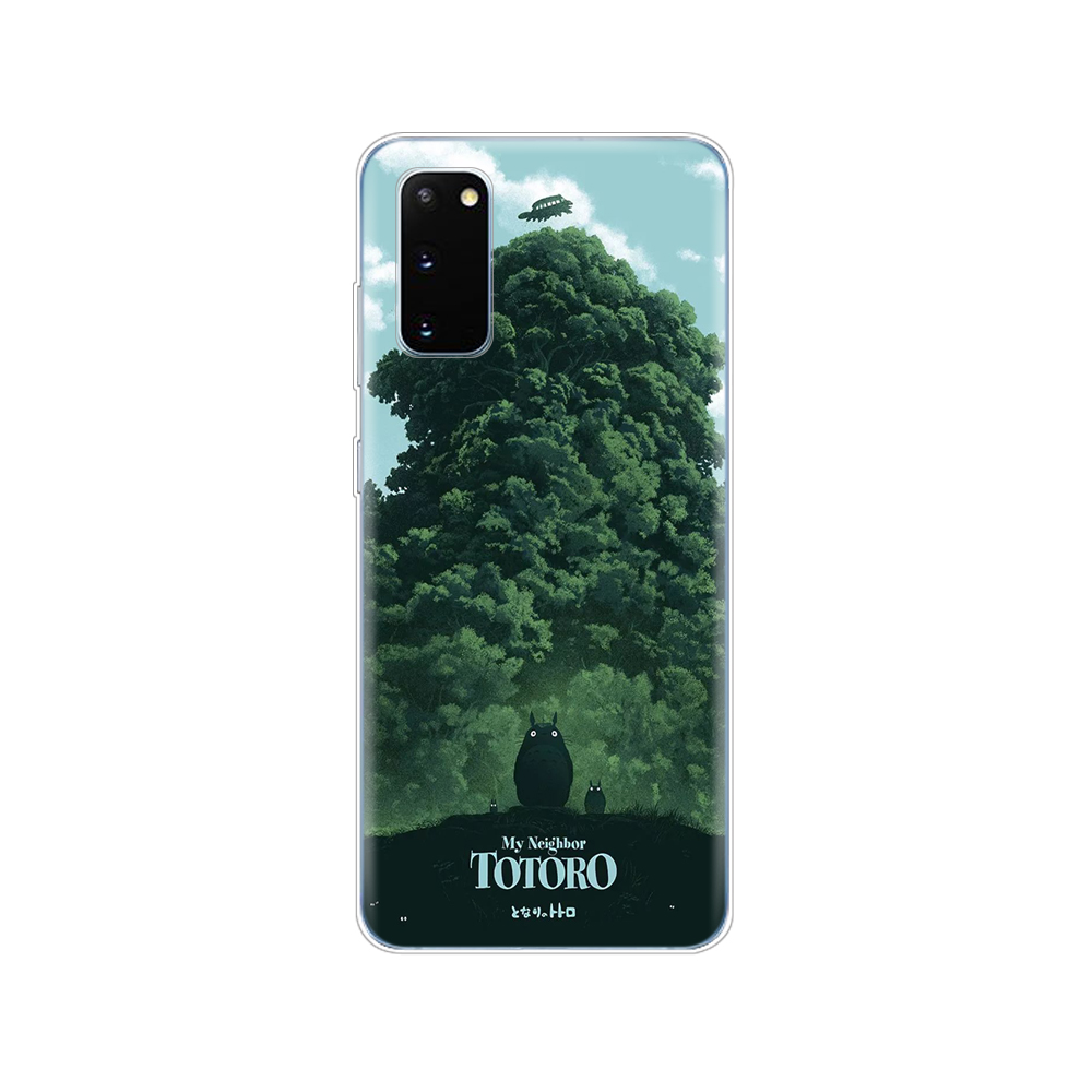 silicon phone cover case for samsung galaxy S20 PLUS Ultra S10 lite coque for samsung note 10 plus lite My Neighbor Totoro Anime