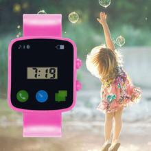 Dzieci analogowy sportowy cyfrowy LED elektroniczny wodoodporny zegarek na rękę Casual nowy zegarek Reloj chłopiec dziewczyna prezent Montre Femme Square tanie tanio Eillysevens 3Bar simple Z żywicy NONE CN (pochodzenie) Akrylowe 22cm bez opakowania 40mm 0406 Plac 20mm 10mm Wyświetlacz LED