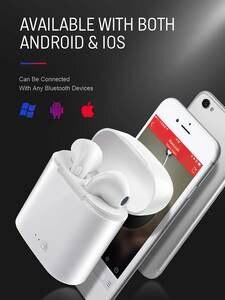 Wireless Bluetooth Earphone Handsets Mic-Charging-Box Sport-Earbuds Mini I7s Ear-Tws