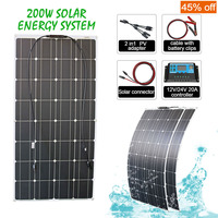 100w 200w 300w bendable flexible solar panel system waterproof kits for car RV boat