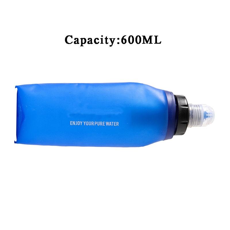 Botella de Filtro de Agua Plegable de TPU con Filtro de Agua Paja 2000L Sistema de Filtraci/ón de Agua para Supervivencia Acampada Emergencia pedkit Filtro Agua Botella 600 ml