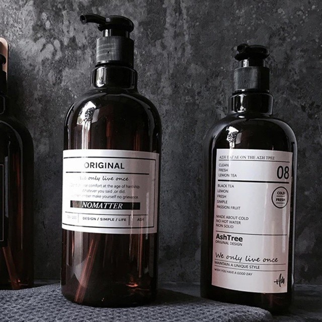 250/500ml Bath Refillable Bottle Hand Sanitizer Bottle Press-type Shampoo Bottle Portable Shower Gel Organize Container 1