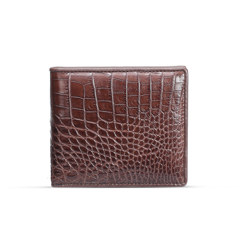 leather crocodile wallet Luxury brand men's short belly horizontal zero Mini Billeteras delgada purses European style Hot sale