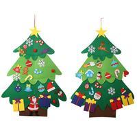 В форме рождественской ёлки Нетканая подвеска оконная повязка для детей DIY Декор