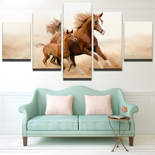 5 Planes Horses Room Decor Canvas Art Painting Picture Photo Living Office for Women and Men