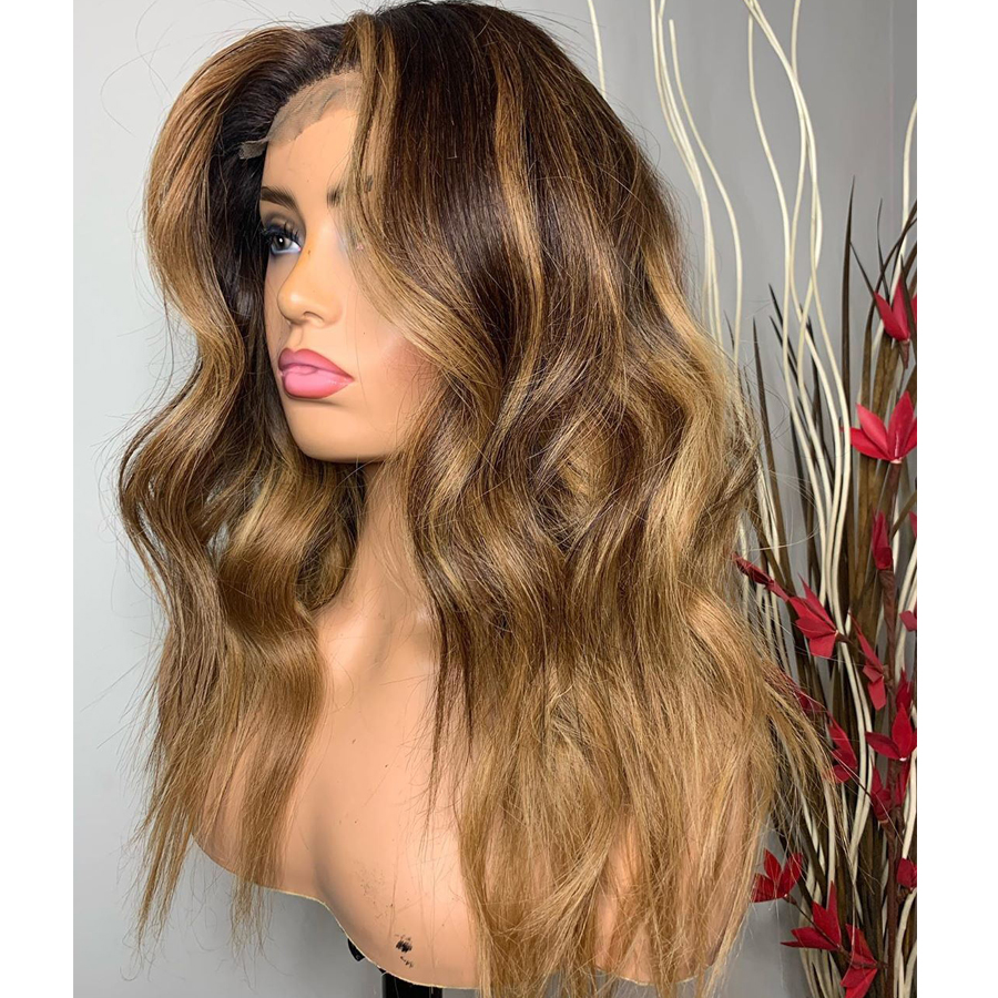 -Ombre-Wavy-Lace-Front-Human-Hair-Wigs-with-Baby-Hair-150Density-Ombre-Honey-Brown-Glueless