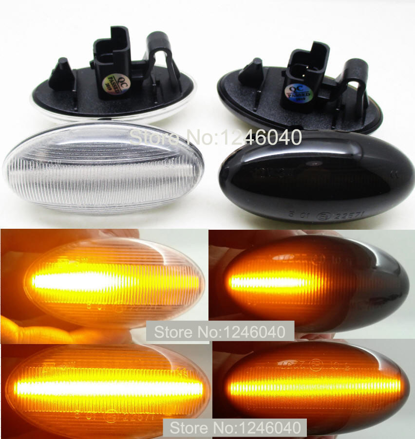 2x Citroen C1 MK1 4-LED Side Repeater Indicator Turn Signal Light Lamp Bulbs