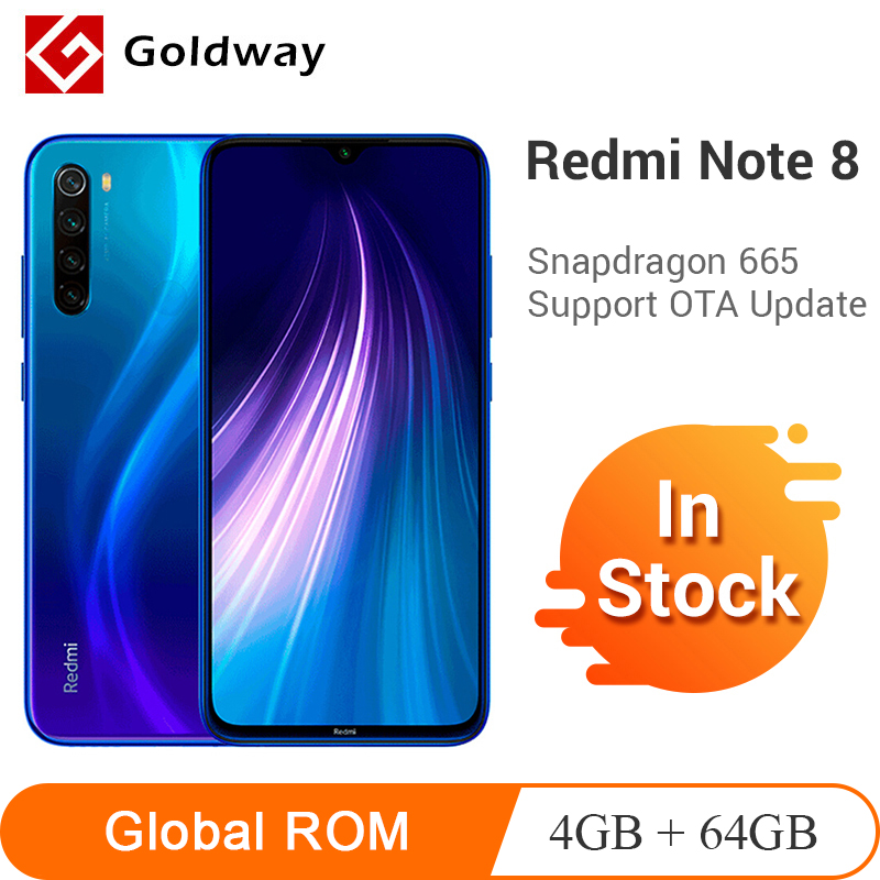 "Global ROM Xiaomi Redmi Note 8 4GB 64GB Smartphone Snapdragon 665 Octa Core 48MP Quad Rear Camera 6.3"" Screen 4000mAh(Hong Kong,China)"