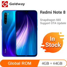 Global ROM Xiaomi Redmi Note 8 4GB 64GB Smartphone Snapdragon 665 Octa Core 48MP Quad Rear Camera 6.3″ Screen 4000mAh