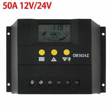 PWM Solar Controller 50A/60A 12V/24V/48V Solar Charge Controller Battery Panel Charger PV Home Battery Regulator USB LCD Display(China)