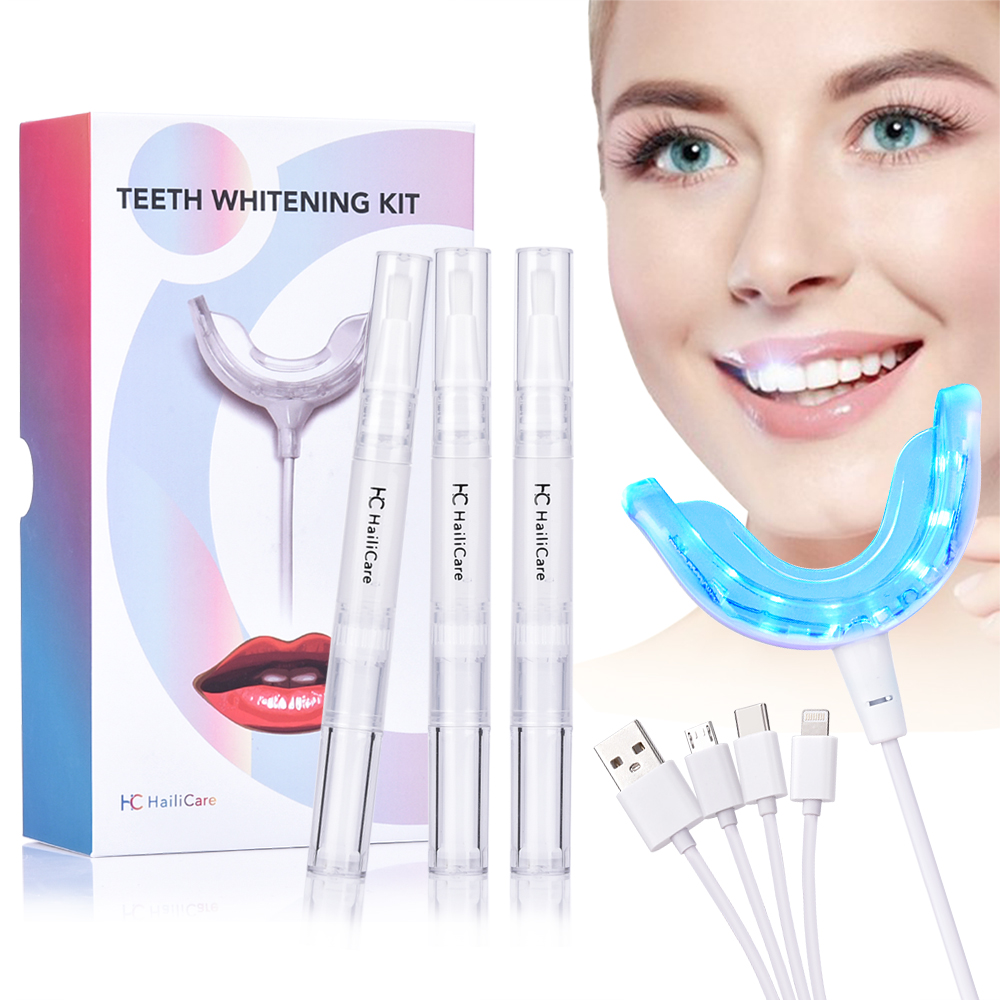 Teeth Whitening Kit Mouth Tray Gel Strips White Tooth Peroxide