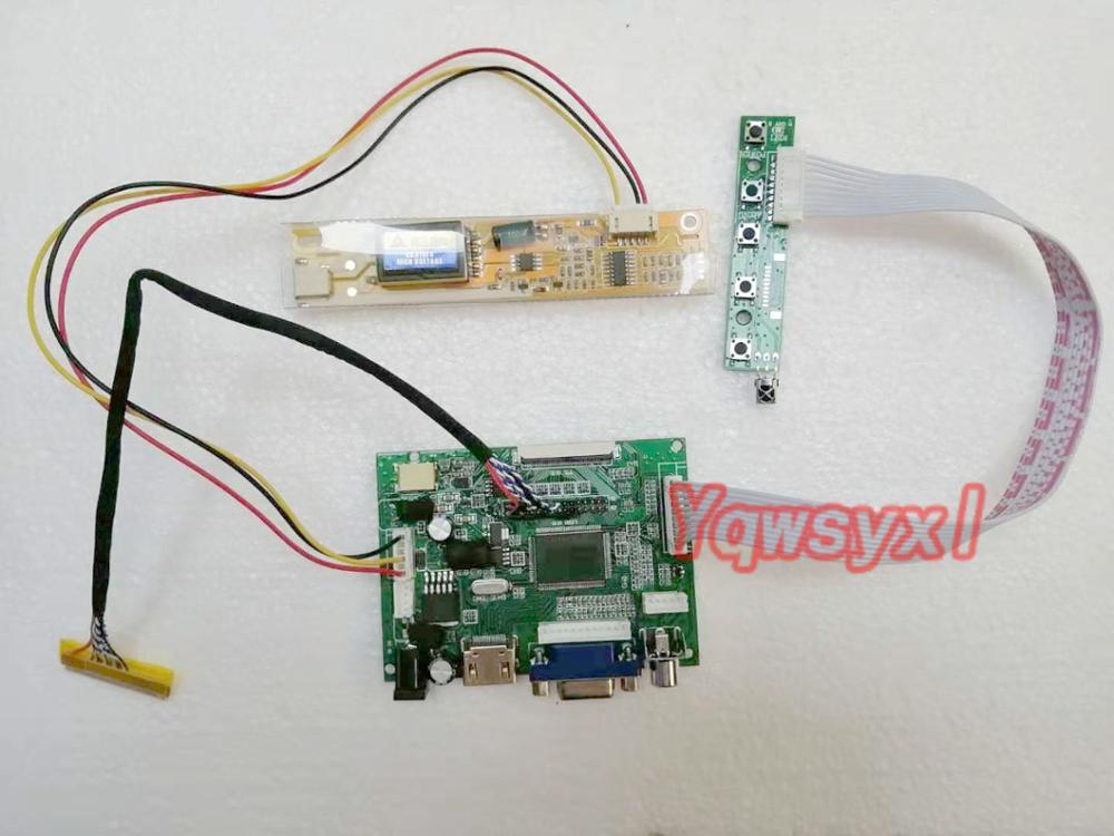 Yqwsyxl  HDMI+VGA  2AV LCD Controller Board Work For 15.6inch  N156B3  B156XW01 1366x768  LCD SCREEN  Display VS-TY2662-V1