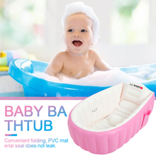 Cute Infants Shower Basin Mini Toddler Swimming Pool for Water Game Baby Inflatable Bathtub Portable Anti Slip Foldable Children