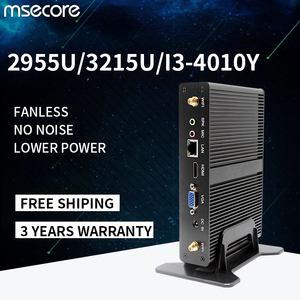 MSECORE 2955U i3-4020Y fanless Mini PC Windows 10 HTPC industrial Desktop Computer intel linux intel VGA HDMI wifi