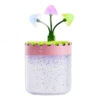 Micro Landschaft USB Diffusor Aroma Ätherisches Öl Luftbefeuchter Ultraschall Diffusor mit 7 Farbe LED Nacht Licht Kühlen Nebel Rosa|Luftbefeuchter|Haushaltsgeräte -