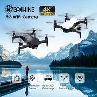 Eachine EX4 5G WIFI FPV GPS con videocamera 4K HD punto cardanico stabile a 3 assi di volo interessante RC Drone Quadcopter RTF