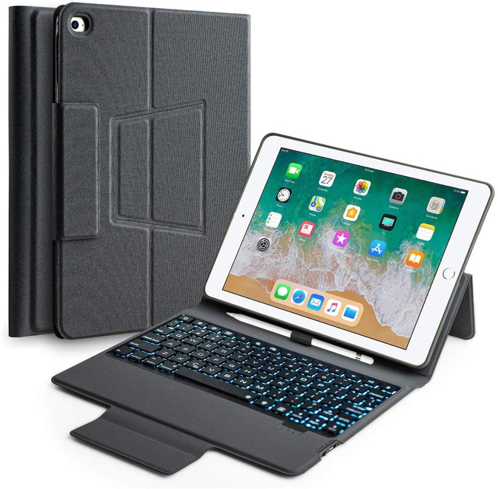 10.5 inch ipad pro case with Keyboard,IPAD Keyboard Case for 2019/2017 iPadpro 10.5 iPad Air Backlit Bluetooth Keyboard image