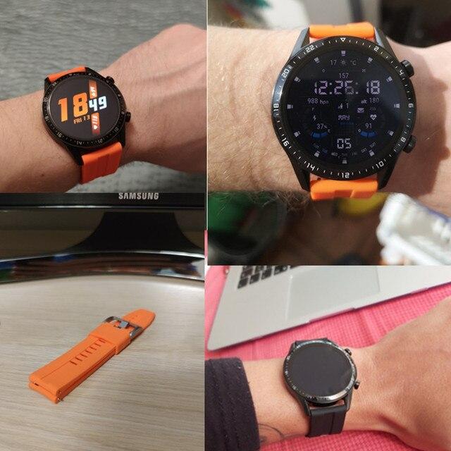 Купить ремешок 22 мм для huawei watch gt2e gt2 42 46 браслет samsung картинки цена