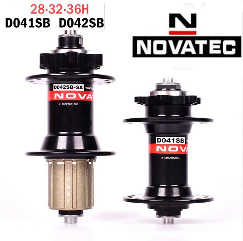 Novatec Red 28 or 32 Hole MTB Disc Hub Set D791SB 15x100mm /& D792SB 12x142mm