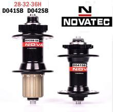 цена на Mountain Bike Hub Novatec hub D041SB D042SB disc card brake MTB bearing bicycle hubs 28 32 36 Holes red black 8/9/10/11speed