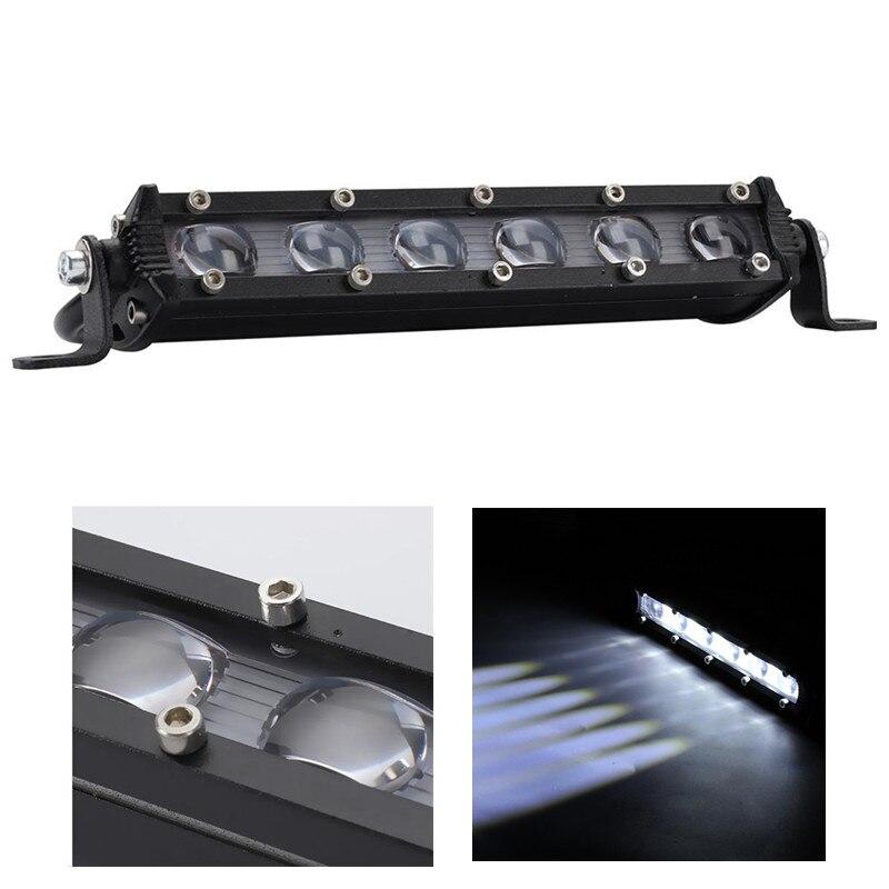 8 Inch 60W LED Bar Work Light IP67 Waterproof Off Road Truck SUV Spotlight Floodlight Fog Lamp Bar Ledbar Offroad Accessorie