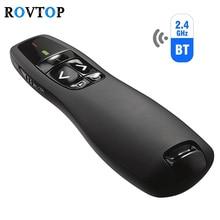 Rovtop mando a distancia inalámbrico USB R400, 2,4 GHz, PPT, portátil, de mano, presentador, mando a distancia, bolígrafo láser rojo para Powerpoint Z2