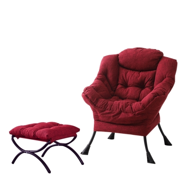 Lazy Chair Modern Simple Single Sofa Chair Bedroom Balcony Leisure Computer Chair European Leather Sofa Chair image