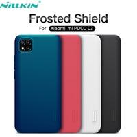 Funda protectora para Xiaomi Mi Poco C3 Nillkin Super Frosted Shield, carcasa rígida ultrafina para PC, funda trasera para PocoC3