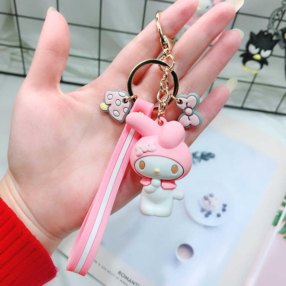 2019 3D Bonito Dos Desenhos Animados Olá Kitty KT Gato Keychians Chaveiros Charme Acessórios Sacos Pingente Animais Anel Chave para As Mulheres meninas