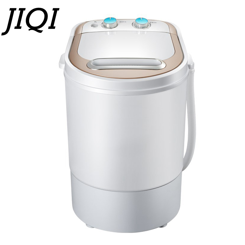 JIQI 3.5 Kg Mini Semi-automatic Household Washing Machine Small Single Barrel With Drying Cylinder Low Noise For Home Dorm 170W