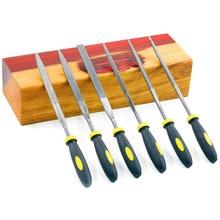 Набор мини-напильников, набор напильников для дерева с резиновой ручкой, напильники для дерева и мягких материалов для резьбы(деревянная напильница, мини