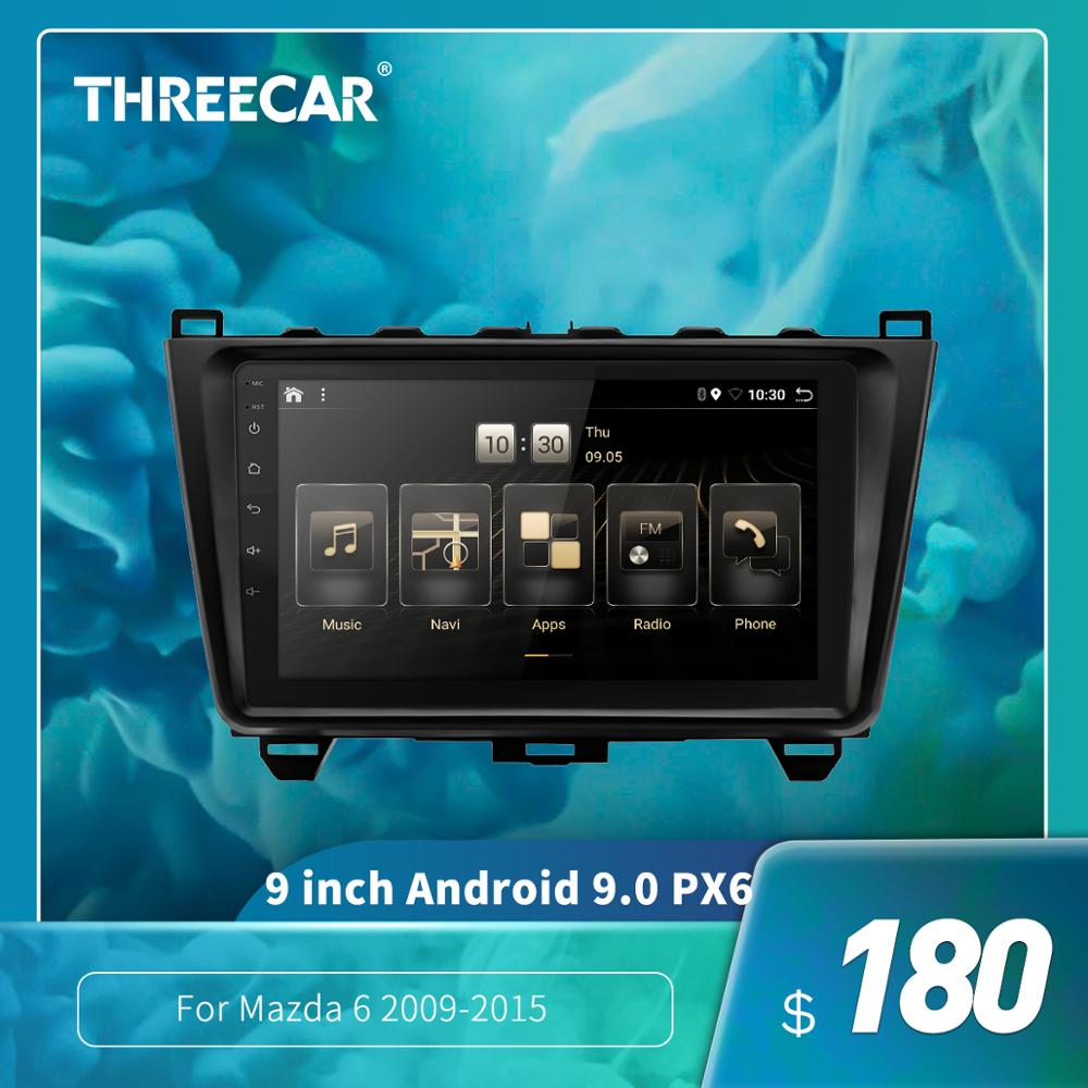 2din <font><b>Android</b></font> 9.0 Ouad Core PX6 stereo car radio For <font><b>Mazda</b></font> <font><b>6</b></font> 2009-2015 <font><b>GPS</b></font> Navi Audio video player Wifi BT HDMI DAB + 4G + 32 image