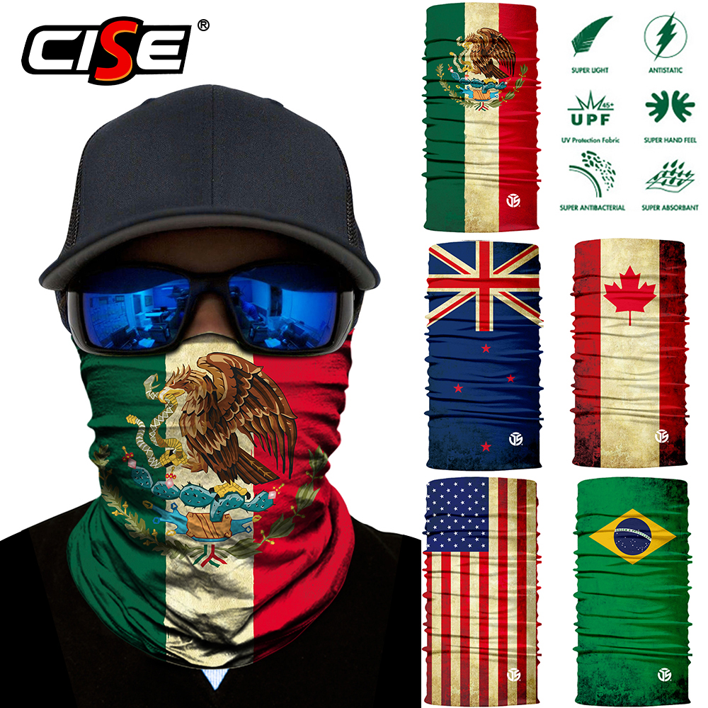 National Flag Seamless Magic Balaclava Face Mask Motorcycle Skiing Riding Scarf Neck Shield Anti-UV Men Sun  Warmer Headgear