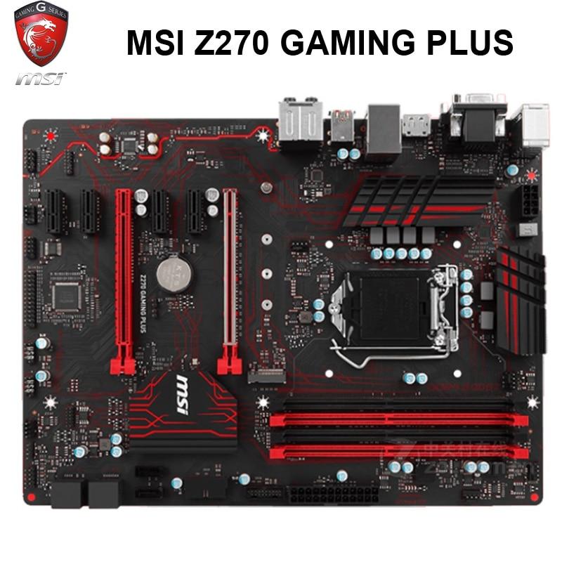MSI Z270 GAMING PLUS Motherboard LGA1151 DDR4 PCI-E 3.0 1151 Intel Z270 Core I7/i5/i3 DDR4 Desktop Z270 Mainboard
