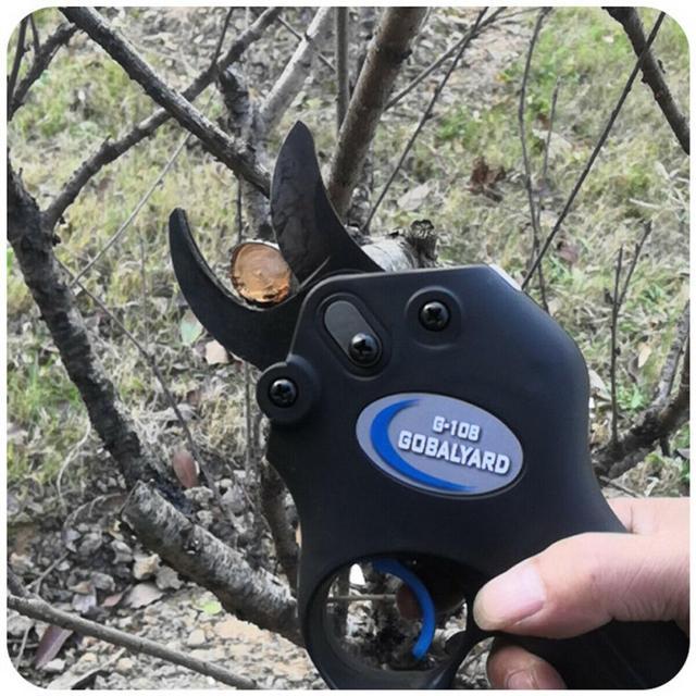 Ciseaux électriques Rechargeable puissance sécateur sécateur de jardin sécateur Secateur coupe branche outil de coupe ciseaux avec boîte à outils