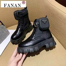 2021 Autumn Winter New Women's Thick-Soled Leather Martin Boots Casual Women's Boots Women's Fashion Lace-Up High Boots
