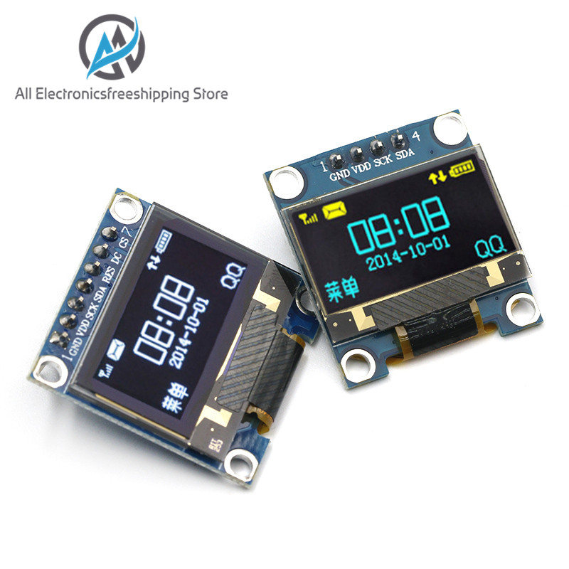 0.96 Inch IIC Serial Yellow Blue OLED Display Module 128X64 I2C SSD1306 12864 LCD Screen Board GND VCC SCL SDA 0.96