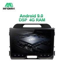 4G RAM DSP android 9.0 car radio dvd for KIA sportage 2010 2015 gps navigation car radio video stereo multimedia