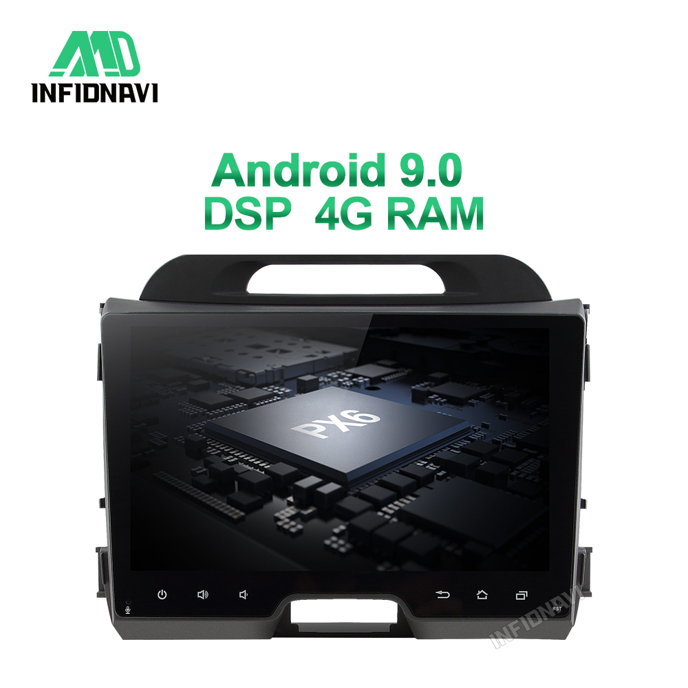 4G RAM DSP android 9.0 <font><b>car</b></font> radio dvd for <font><b>KIA</b></font> <font><b>sportage</b></font> 2010-2015 gps navigation <font><b>car</b></font> radio video stereo multimedia image