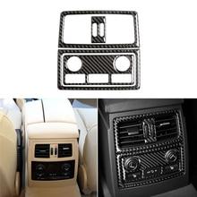 Auto Styling Real Carbon Fiber Hinten Klimaanlage Outlet Zigarette Leichter Panel Rahmen Abdeckung Trim Für BMW 5 Series E60 e61