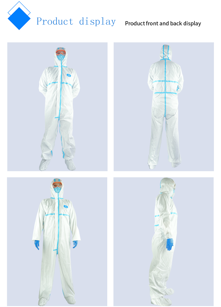 Coverall Disposable Anti Epidemic and Antibacterial Isolation Suit for Prevention from Viruses and Bacteria 11
