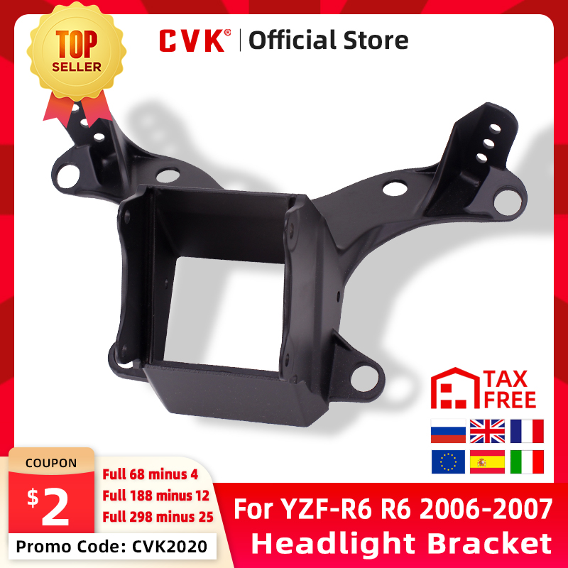 CVK Headlight Bracket Motorcycle Upper Stay Fairing For YAMAHA YZF 600 R6 2006 2007 YZF-R6 06 07 Parts