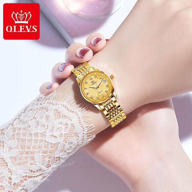 OLEVS Luxury Brand Women Automatic Mechanical Watches Steel Watch Band Watch Waterproof Simple Watch For Women Gift for Women 4