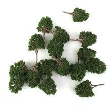 20 pces modelo árvore 7.5cm verde, trem ferroviário arquitetura diorama n escala para diy artesanato ou modelos de construção