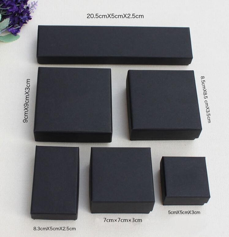 SMJEL Black Earrings Box Pack For The Jewelry Velvet Bag Gift Boxes Packaging The Jewelrys As Gifts To Friend