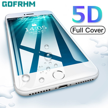 5D 9H Full Cover Tempered Glass On For iPhone 7 8 6 6s Plus Screen Prot