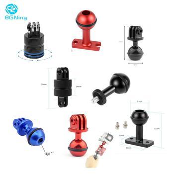 цена на Camera Ball Head Tripod Handle Braket Mount Base Adapter Clip 360 degree Rotation for Gopro Hero SJcam YI EKEN Action Sports