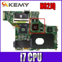 N82JQ поддержка материнской платы i7 CPU REV2.0 для ASUS N82J N82JV N82JQ N82JA HM55 Материнская плата ноутбука 100% тест Бесплатная доставка