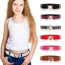 Moda multicolorido crianças cintos elásticos ajustável meninas vestidos cinto de cintura estiramento cinto de coração acessórios de decoração de roupas