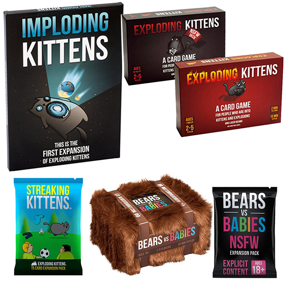 Exploding Kittens Card Game Streaking Expansion Kittens Bundle Game For Fun Board Game Imploding Explosing Streaking Kittens